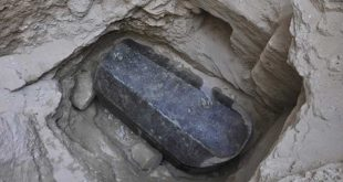 Unmarked Black Granite Sarcophagus Discovered in Egypt